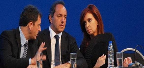 Massa, Scioli y Cristina Fernández. Otros tiempos.