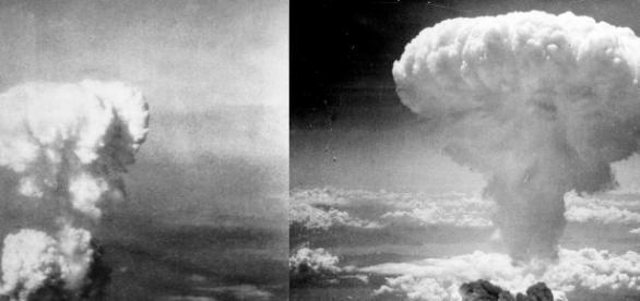 Ciuperca nucleară provocată de bomble atomice