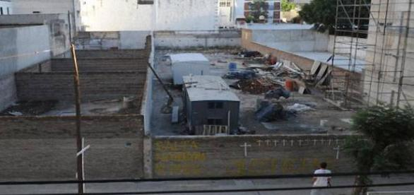 Lugar de la tragedia venido a menos por 4 paredes