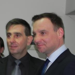 A. Duda podczas kampanii w Ostrowcu. Fot. K.Krzak