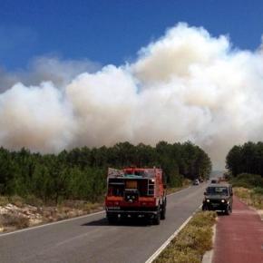 Trânsito cortado na estrada Pataias - Martingança