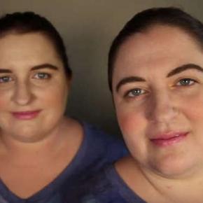 Ambra şi Jennifer în momentul întâlnirii lor