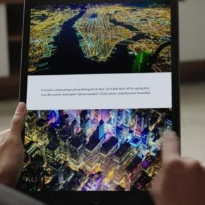 This super-sized iPad has a 12.9 inches screen.