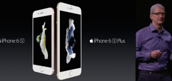 Tim Cook introduced the two new iPhones