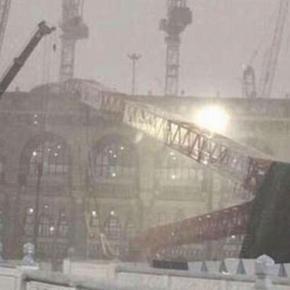 Macara prăbuşită peste Marea Moschee de la Mecca 2