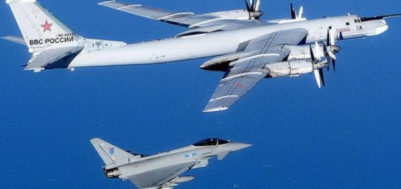 Avioanele rusesti interceptate in Marea Britanie
