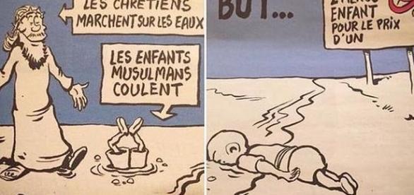 Karykatura opublikowana w Charlie Hebdo