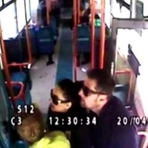 Captură video (Daily Mail) cu cei trei infractori.