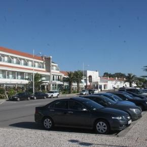 Estacionamento onde aconteceu a ocorrência.