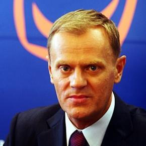 Przewodniczący Rady Europejskiej Donald Tusk.