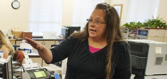 Kim Davis refusing to issue a marriage license.