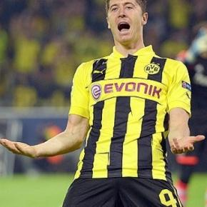 Lewandowski when he was at Borussia Dortmund