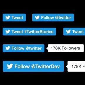 Los nuevos diseños de botones de Twitter