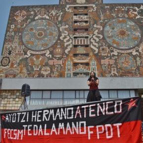 Ciudad Universitaria, mitin conmemorativo.