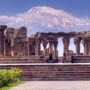 Zvartnots Cathedral and Biblical Ararat