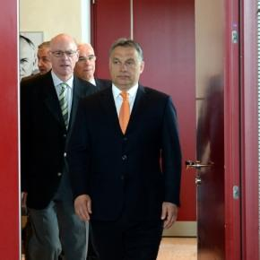 Viktor Orbán (re.) in Berlin / Archivbild 2014