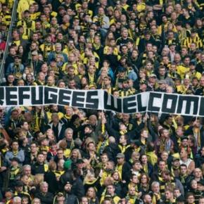 Família do futebol solidária com os refugiados