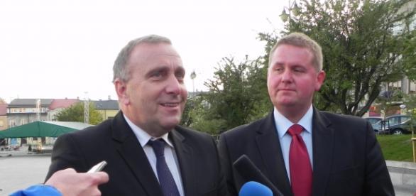 Grzegorz Schetyna i Paweł Celebański. Fot.K.Krzak