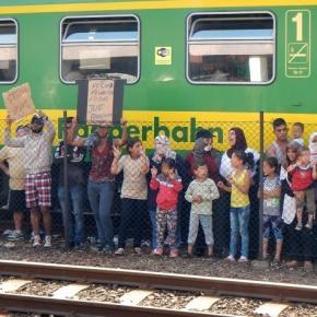 Flüchtlinge im Hungerstreik! Foto: ©BR