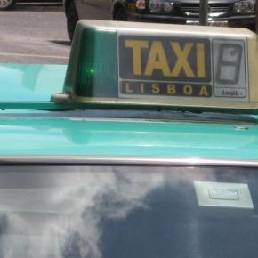 Protestos contra a Uber em Portugal.