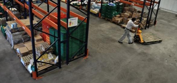 Galpón del Banco Alimentario de La Plata