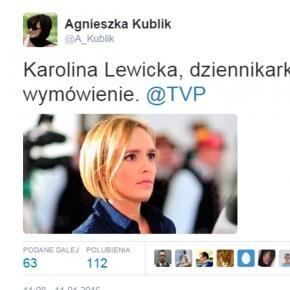 Karolina Lewicka złożyła wymówienie