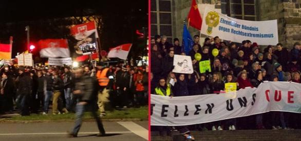 Demonstraţii pro şi contra imigraţie în Germania