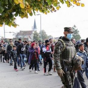 Flüchtlinge auf dem Weg nach Nordeuropa
