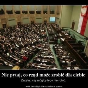 Demotywator o rządzie. Autor: Minx
