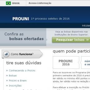 ProUni oferece mais de 200 mil bolsas