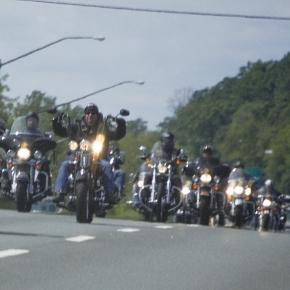 Symbolbild: Mitglieder eines Motorradklubs