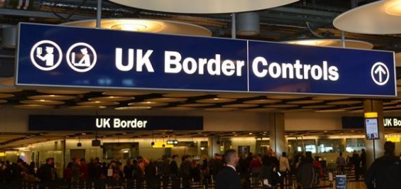 Punct de control la frontieră în Marea Britanie