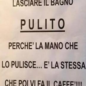 Avviso apparso in un bar in provincia di Pescara