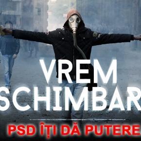 Afisul prin care PSD își anunță proiectul