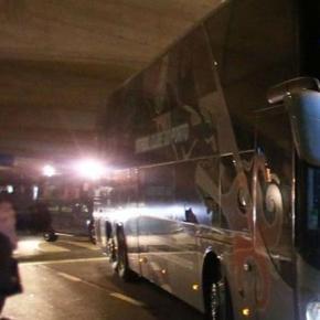 Autocarro do FC Porto à chegada ao Dragão