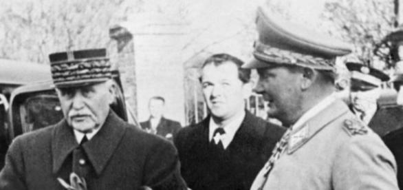 Le maréchal Pétain et Hermann Goering, en 1941.AFP