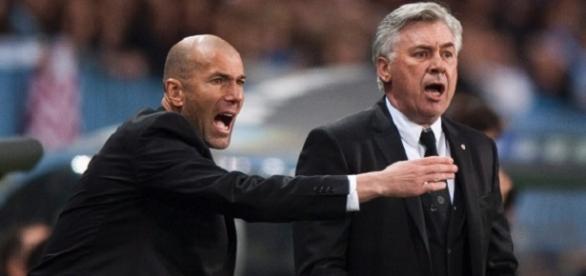 Zidane agierte unter Ancelotti als Co-Trainer.