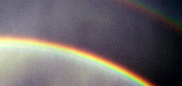 Doble arco iris en la Sierra de Guadarrama