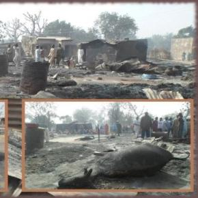 Rămăşiţele satului distrus de terorişti