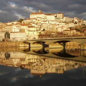 Vista da cidade de Coimbra, em Portugal.
