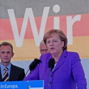 Angela Merkel sagt Wir schaffen das.