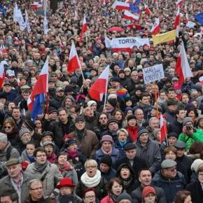 Manifestacja w grudniu 2015 roku