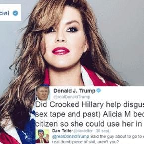 Un commentateur rétorque à Donald Trump qu'il finira jugé pour viols sur mineures (montage Jef T.)