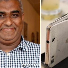Dad of five shot by robbers in chest is saved by bulletproof PHONE ... - mirror.co.uk