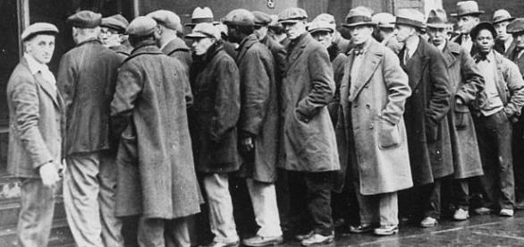 Unemployed men outside a soup kitchen in Depression-era Chicago, Illinois, the US, 1931. Courtesy: Wikimedia Commons