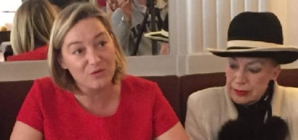Ludovine de La Rochère, présidente de la Manif pour tous, et Geneviève de Fontenay.