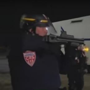 Policja postanowiła ostro potraktować protestujących.