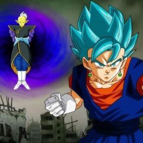 Gowasu le entrega los pendientes a Goku y Vegeta.