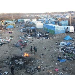 La Jungle de Calais en cours de démantèlement
