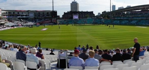The stands at the Oval in London, England. Photo credit: Laura Stewart